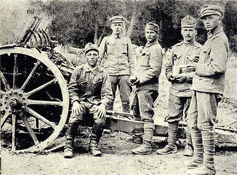 Maďarskí delostrelci pri Sabinove