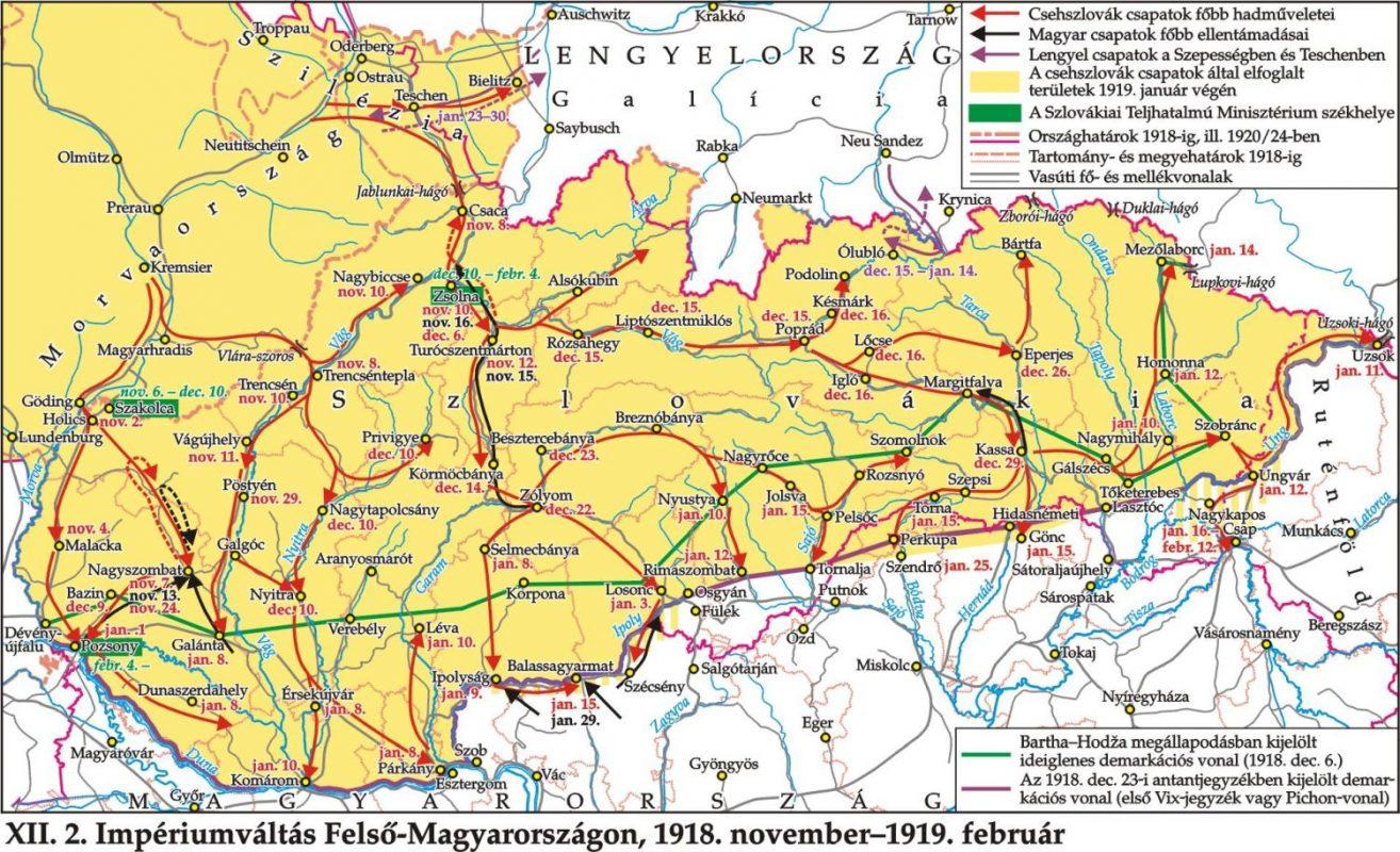 obsadzovanie Slovenska v rokoch 1918-1919